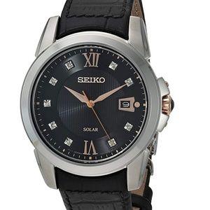 Seiko Men's Stainless Steel Japanese-Quartz Watch